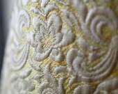 Yellow white Matelassé b...