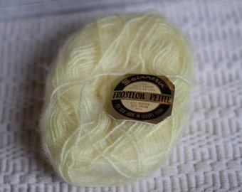 Light Yellow Mohair skein, Yarn Supplies