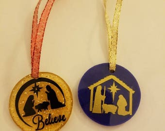 Handmade Christmas ornaments - Nativity theme - purchase individually or as a package