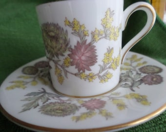 Vintage WEDGWOOD Bone China Made in England Lichfield Minature Cup & Saucer