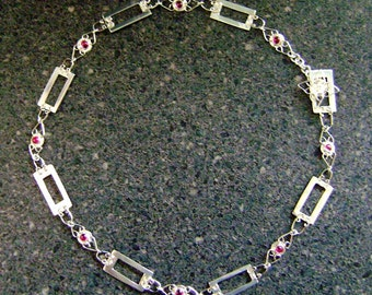 RUBY PRINCESS Set - Ruby Necklace and Earrings, Bridal Jewelry, Silversmith Jewellery, Artisan Jewelry, Wedding Day, Bridal Wear, RP10