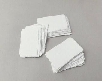 "2"" x 3.1"" Ivory, 210gsm Handmade Deckle Edge Cotton Rag Paper // Deckle Edge Paper, Cotton Paper, Invitation Paper, Calligraphy Paper"