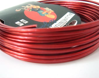 Aluminum wire crazy sold by 10cm red for jewelry making