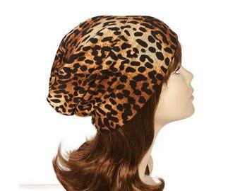 FREE SHIPPING Leopard Slouchy Beanie Leopard Turban Leopard Print Sweater Knit Slouchy Hat Cheetah Turban Cheetah Print Leopard Print Hat