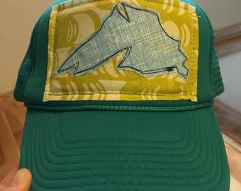 Teal Big Lake Trucker Hat