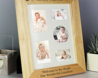 Personalised 8x10 Little Stars Wooden Photo Frame