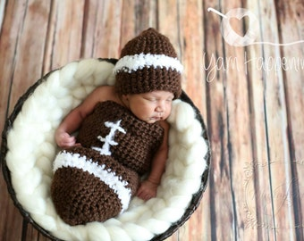 Crochet Football Cocoon