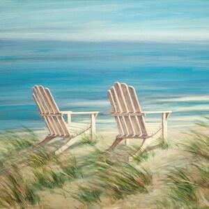 Beach Chair Art Etsy