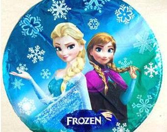 "SALE 5pc 18"" Frozen Mylar Balloon - Princess Anna and Queen Elsa / Disney Frozen Party"