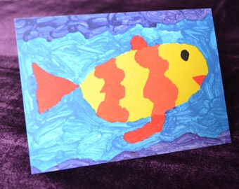 Swimming in Happy Waters Card
