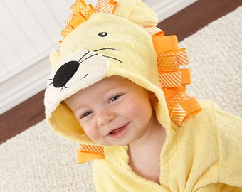"""Infant's Personalized """"Big Top Bath Time"""" Lion Spa Robe"""
