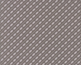 Lulu Lane Petal Stripe fabric in Slate Gray and White by Corey Yoder for Moda Fabrics #29026-20