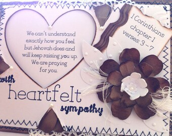 A Sympathy Card with a Scriptural Message and Bible Verse/Three-Dimensional Vintage Style/ JW Greeting Card/Christian Greeting Card