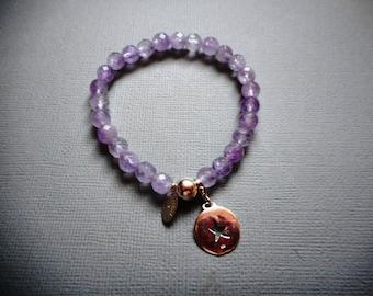 Amethyst bracelet lavender star