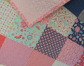 Quilt, Flutterberry Fabrics by Riley Blake, Baby or Toddler or Lap Quilt, Ready to Ship