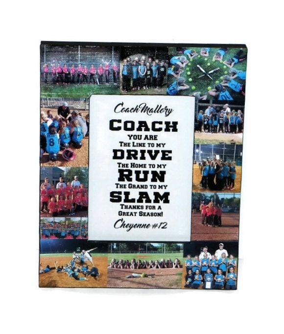 Coach Gift Photo Frame Collage Coaches Gift, Soccer Coach ...