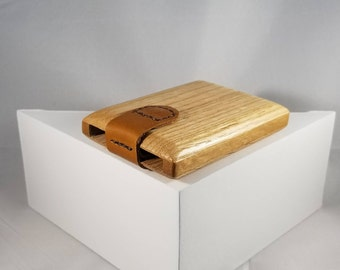 Wooden Wallet / Business Card Holder (Oak and Cherry)