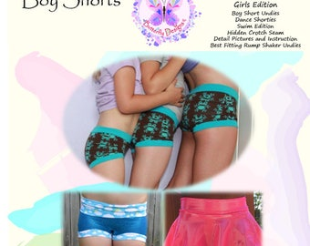 PDF Pattern Rissa's Hipster Boy Shorts Girls Edition