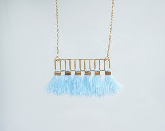 Tassel Necklace Statement Necklace Gold Necklace Best Fiend Gift For Her Birthday Gift For Women Sister Gift Girlfriend Gift/ AURA
