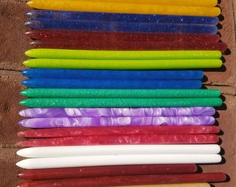multi colored acrylic hair sticks (choose 1 hair stick or more)