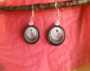 Quilling, paper earrings