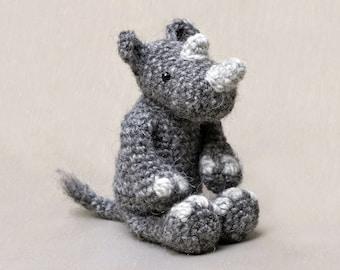 Amigurumi crochet rhino pattern