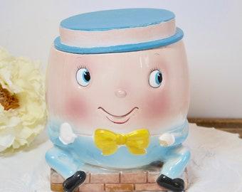 Humpty Dumpty Cookie Jar, Cookie Jar, Vintage Cookie Jar, Retro Cookie Jar, Vintage Kitchen, Ceramic Cookie Jar, Rubens Originals