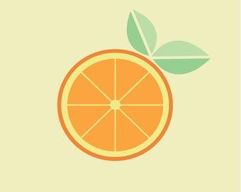 Minimal Orange Print
