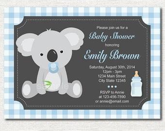 Koala Baby Shower Invitation