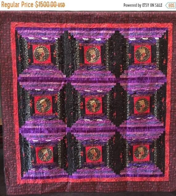 Hello Summer Sale Queen of Everything 64x64 inch art quilt