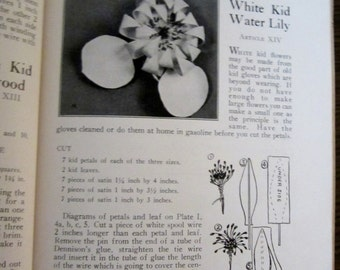 HAND MADE FLOWERS Ada Jones Smith Millinery 1922 Original 1st Edition How to Make Not Repro or Digital File