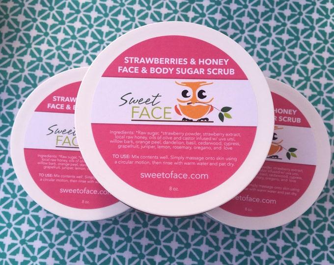 Exfoliating Strawberries & Honey Sugar Scrub