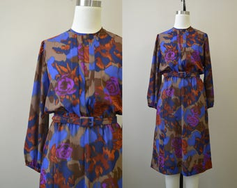 1970s Hal Hardin Ikat Dress