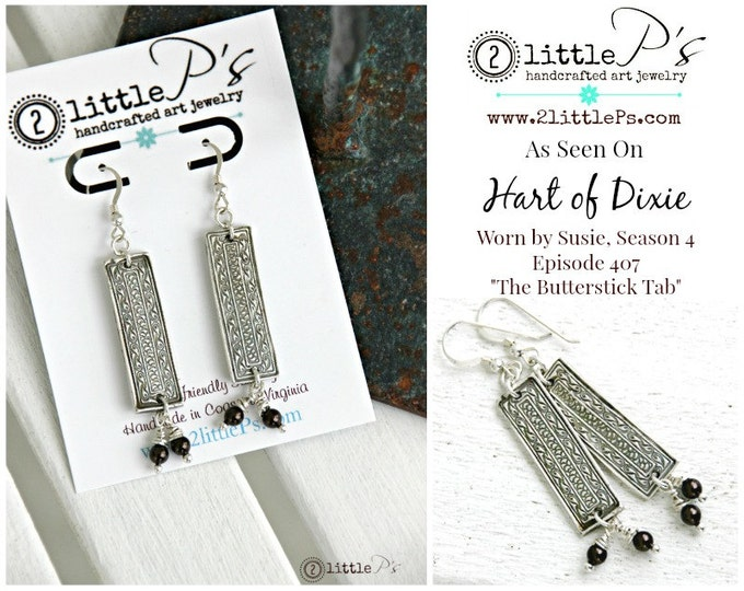 Featured listing image: As Seen on Hart of Dixie, Boho, Gift for Her,Textured Art Jewelry, Handcrafted Pure Silver