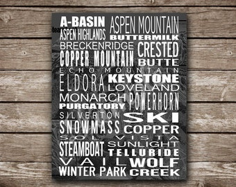 Customizable Colorado Ski Resort Printable Poster