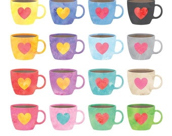 Watercolor Coffee Cup Clipart