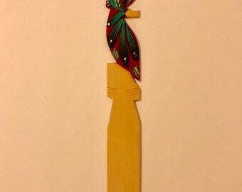 Handmade Wooden Bookmark - Purple Owl