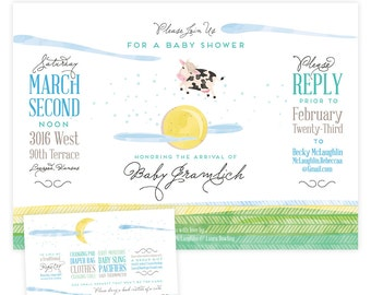 Over the Moon Baby Shower Invitations (30)