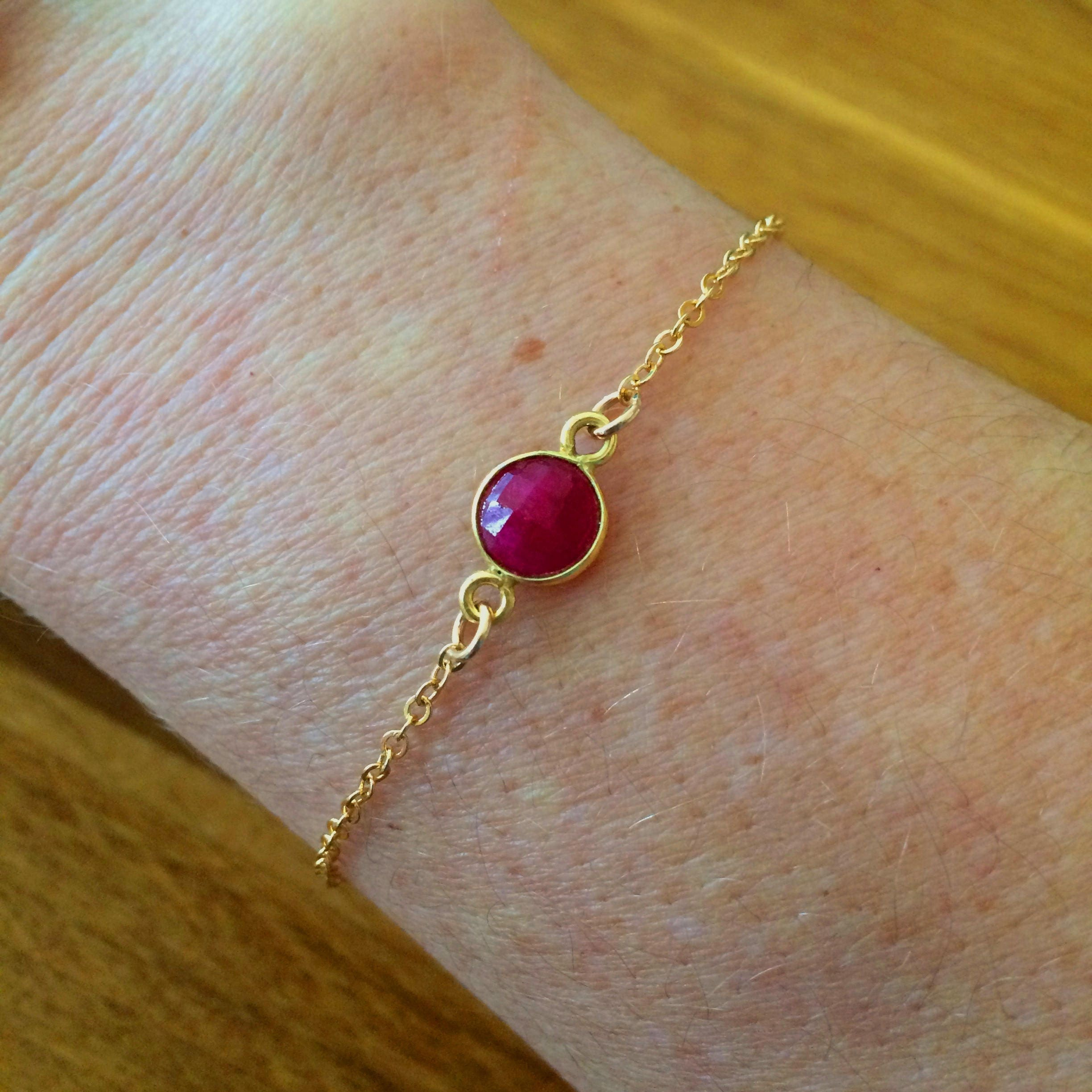 real ruby bracelet white and gold diamond final winsor bishop graduated line