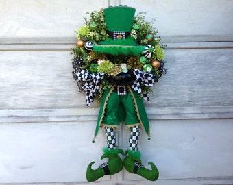 St. Patrick's Day Wreath,Leprechaun Wreath