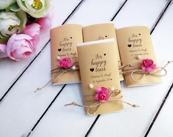 Happy tears tissue pack, Tears of joy packs, Happy tears handkerchief, Happy tears hankerchief, Personalized wedding ceremony hankies