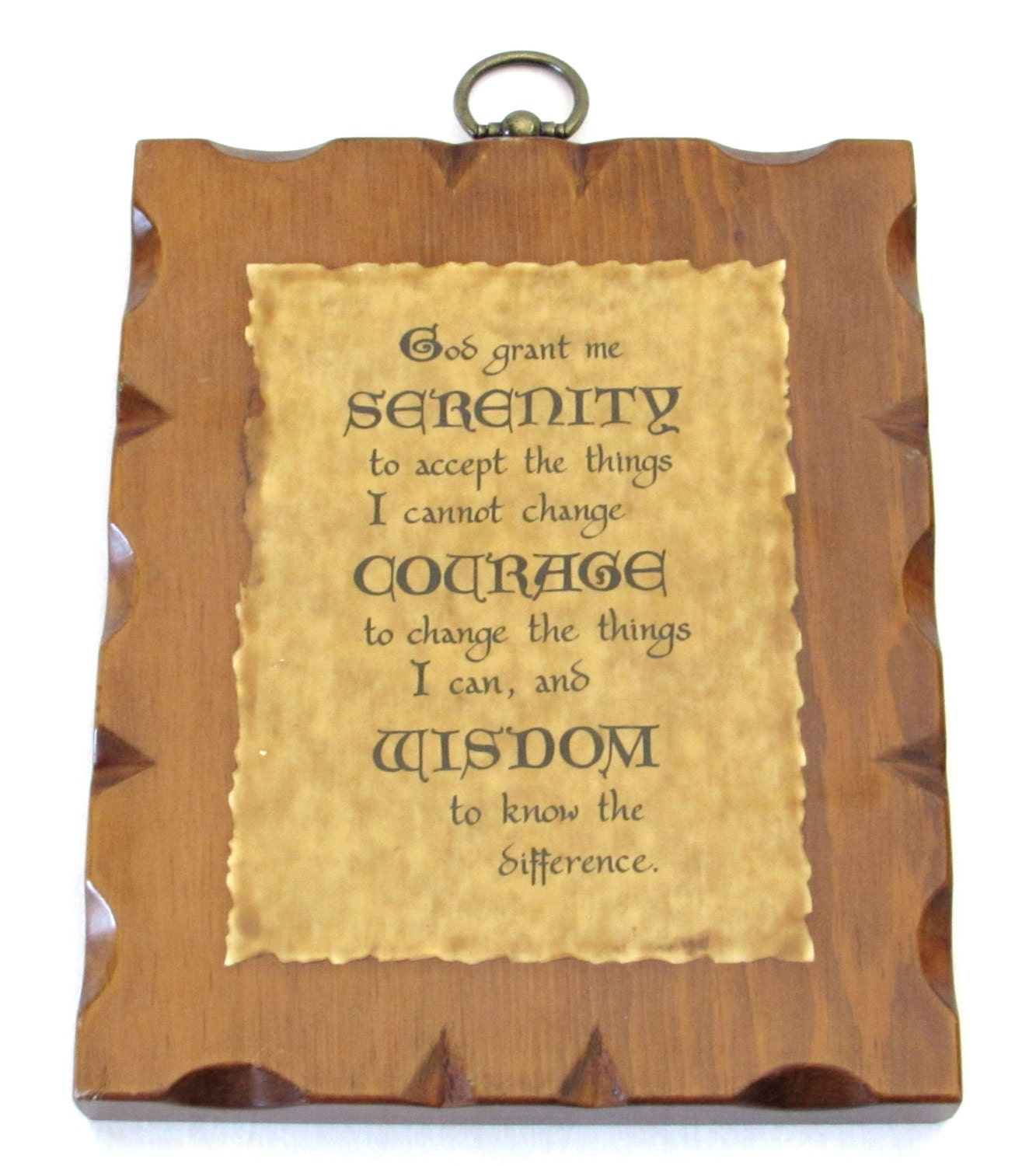Peaceful Serenity Prayer Wall Hanging: God Grant me Serenity to ...