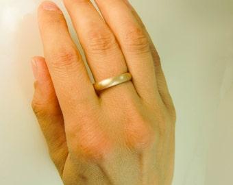 14 Karat Gold Ring - 4mm X 1.5mm Gold Wedding Band - Mens Gold Wedding Band - Womens Gold Wedding Ring - Plain 14K Gold Band - 14K Gold Ring