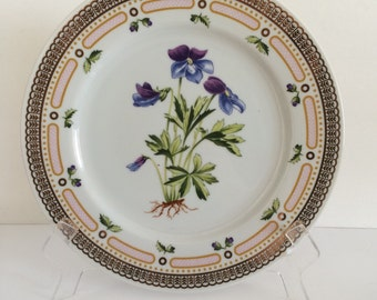 Georges Briard Floral Potpourri Dinner Plate Bird's Foot Violet Botanical Mid Century Fine China