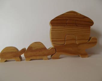 puzzle toy wooden turtle