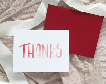 Thank You Card // Thanks // greeting card // thank you notes // birthday thank you // Christmas thank you // gift // thanks card