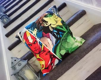 Dc comics cushion, green lantern, red tornado character cushion cover, pillow cover comic book, super hero
