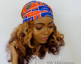 Wide Head Wrap Cotton Headband Football Basketball Sports Wide Headband Florida Gators Head Wrap or CHOOSE Your Team