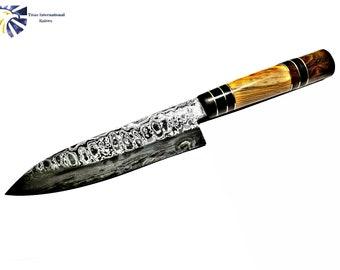 Damasucs Santoku knife/ Kitchen Knife / by Titan 302