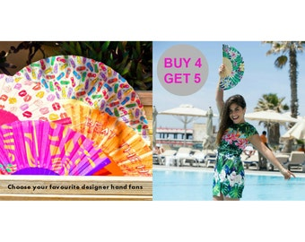 HOT SALE: Designer Hand Fans - Choose 5 and pay for 4 - Free Shipping Worldwide